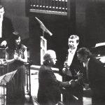 Игорь Лифановский с композитором Эдисоном Денисовым на сцене Малого зала Московской консерватории. Январь 1987.
